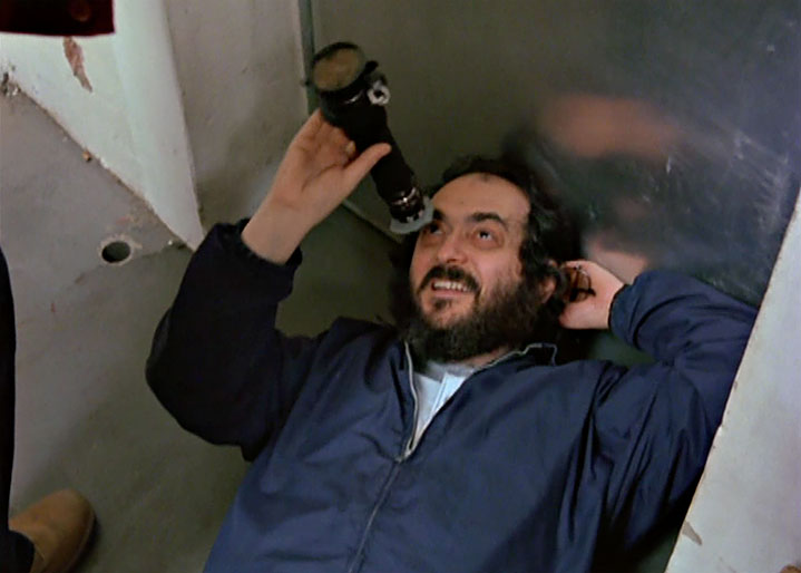 Stanley Kubrick directlng Jack Nicholson in a scene from Making The Shining.