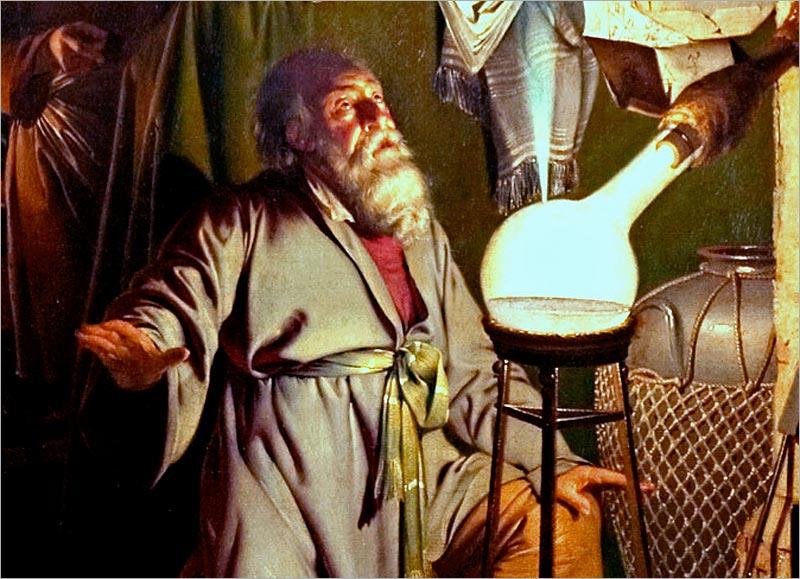 'The Alchymist' by Joseph Wright of Derby