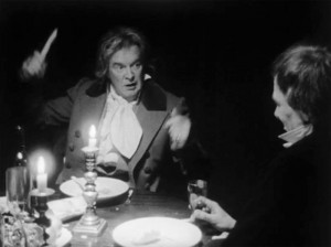 Beethoven 'entertains' his friends at dinner