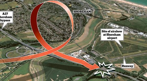 Diagram of the Shoreham air disaster