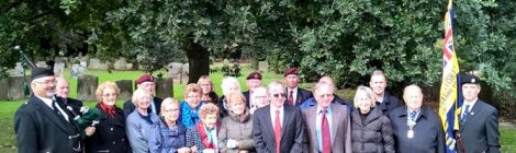 1st Para Remembrance Service at Donington, Lincs, 23 Sept 2018